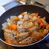 幸運な病のレシピ( 743)朝:煮付け(パテから作った塩サバ鶏団子巾着)、パテの煮付けハンバーグ(笑)