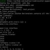 Pythonメモ : cookiecutterでプロジェクトの雛形を作成する
