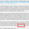 iOSビルドでSQLiteを使う
