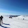 スウェーデンのスキー場にて。