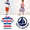 キッズ プリント半袖Tシャツ, ボーダー半袖ワンピース, ボーダー半袖Tシャツ | PETIT BATEAU(プチバトー)