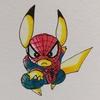 スパイダーマン×イケメンピカ様。 Spiderman × Cool Pikachu.
