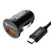 超Smart!QC3.0搭載の高速充電AUKEY カーチャージャーCC-T13の35%OFFセールを開催、USB-Cケーブル付き!