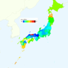 Rate of Deaths from Uterus Cancer by Prefecture in Japan, 2015