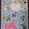 ランチョンマットイスラム模様と押し花コラボ2-1