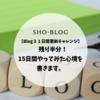 【Blog31日間更新チャレンジ】残り半分! 15日間やってみた心境を書きます。