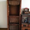 アンティークの藤製の棚の洗浄にチャレンジ
