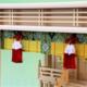 見た目から明るく彩りを豊かにしてくガラス箱宮三社の神棚