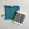 編み込みの練習とスワッチ