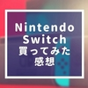 Nintendo Switchを買ってみた感想をWii U持ちまったりゲーム勢が書いてみた