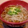 蕎麦メイン、羽田空港第一ターミナルの軽食屋さんで変わった日本酒発見