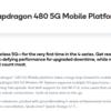 Qualcomm、エントリー向けのSoC「Snapdragon 480」を発表 5GやWi-Fi 6に対応