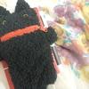 黒猫のベルト付きペンポーチ