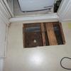 洗面所の床(浴室出入口)補修