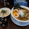 濁りの無い煮干しスープを完食しました。 @一宮 中華そば 味万