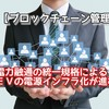 【ブロックチェーン管理】電力融通の統一規格によるEVの電源インフラ化が進む