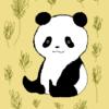 草とパンダと夏後半 はなぱんだのパンダのイラスト