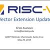 RISC-V Workshop Zurichで発表されたRISC-V Vector Extension 0.7.1