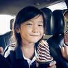 アイスクリームに幸せを感じる時。