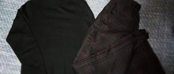 【秋冬の洋服】ロングワンピースとワイドストレートパンツ【ユニクロ】