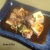 豆腐をこんがり焼いてなすと一緒に食す