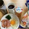 エノキの豚バラ巻 チーズカレー ジャムパン ベーコンエッグ