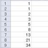 フィボナッチ数列を計算するマクロ