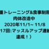自重トレーニング&食事制限で 肉体改造中  2020年11/1~ 11/8(第17回:マッスルアップ連続5回達成!)
