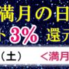3/13(土)は新月のポイントアップデー☆彡
