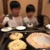 【3人息子】20. もんじゃ焼きを食べる
