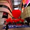 バレンタインデー!!(エムクォーティエ)に巨大な赤のハートが登場!