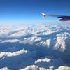 飛行機から眺めるアルプス