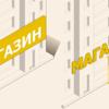 ロシア飲食店の看板事情