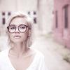 ダイソーの伊達メガネがかわいい。