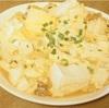 豆腐を卵でとじた高タンパクで糖質オフレシピ!ダイエット中のアテにもどうぞ!