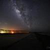 【天体撮影記 第161夜】 沖縄県(宮古島、伊良部島) 17ENDビーチより下地島空港と夏の天の川を