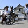 忠犬リリ、車いすを押す 今日も飼い主とお散歩へ