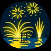 今年は、気合を入れて、宮島の花火大会に挑むか!!