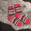 靴下の模様を左右揃える方法