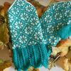 編み込み模様のミトン【編み図と作り方】