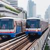 バンコクの電車のキップの買い方と乗り方。スカイトレインBTSと地下鉄MRT。