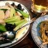 中華の晩酌セットと青椒肉絲(外食)