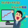 【11/18〜11/22】今週の相場展望(ドル円、ユーロドル、ポンドドル、オージードル)