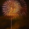 日田市 川開き観光祭 この場所からの打ち上げ花火はゆっくり観れた