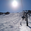 雪山遊び17日目/ハチ北でフリースタイルボード🏂