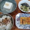 玉子焼きと酢の物と豆腐