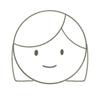 ストレートヘアの女の子の顏アイコン
