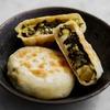 野沢菜おやき2種のレシピ