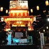 桐生八木節祭りの櫓の上で!
