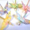 新作「パステル和柄の折り鶴シャワー」